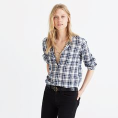 Slim Ex-Boyfriend Shirt in Coltrane Plaid : button-up & popover shirts / Madewell