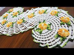 Crochet a Spiral Doily - part 1 كروشيه مفرشة حلزونية رائعة - الجزء الأول - YouTube