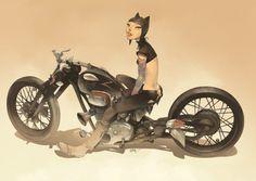 "Otto Schmidt Art, ""Selina - catwoman racer"""