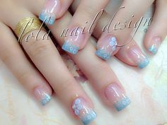 One stroke and freehand nail art nail designs that are cool the new era blue is you bleu mani prinsesfo Image collections