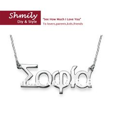 1pcs wholesale fashion personalized handmade greek necklaces sterling silver…