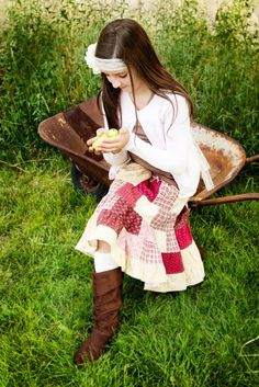 patchwork skirt- entire adorable outfit <3