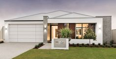 Ross North Homes are new home builders in Perth with a distinct range of home designs. No matter your home building vision, you'll be right at home with us. First Home Buyer, Inviting Home, House Elevation, New Home Builders, Display Homes, House Front, Front Porch, New Home Designs, Facade House