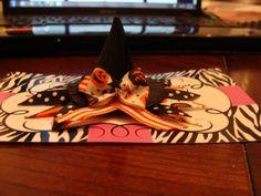 Witches hat ribbon sculpture- Sculpture Hair Clip- Toddler Hair Clips- Hair Bows- Boutique Hair Bows- Hair Accessories-Girls Hair Accessories- Handmade Accessories and Gifts by Tutu Amaezing Boutique.  Facebook.com/tutuamaezingboutique Www.etsy.com/shop / TutuAmaezingBoutique