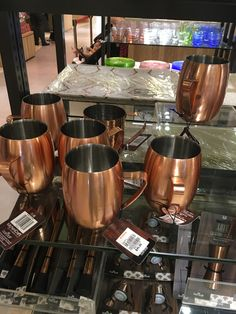 quirky brass cups