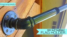 Flag Holder--plumbing pipe
