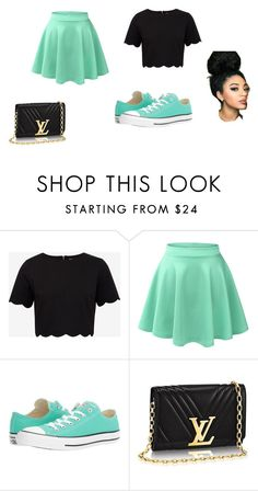 """love it"" by beyonce-539 ❤ liked on Polyvore featuring Ted Baker, LE3NO and Converse"