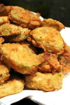 Battered and Fried Pickles just like at the state fair, but easy to make at home! You'll love this simple Easy Fried Pickles Recipe!