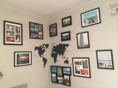 To show all the place you've traveled and your photographs. So much more unique than just pinning pins on a map!