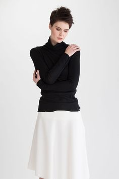Katri Niskanen Merin Top Black Black Tops, Ballet Skirt, Blouse, Long Sleeve, Skirts, Sleeves, Women, Products, Fashion