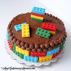 Amy's Confectionery Adventures: Lego Cake {Peanut Butter Cake}