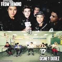 Domino to Disney Dudez