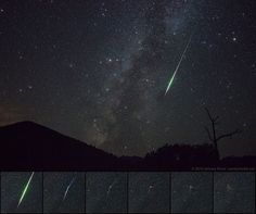 Perseid Fireball at Sunset Crater