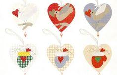 ! Vilt-Aholic ♥ ♥ Mallen en pap en Vilt Vilten gestempeld: Hangers Dennen in patchwork - Mallen!