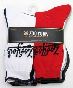 Zoo York Mens 10-Pack Crew Socks
