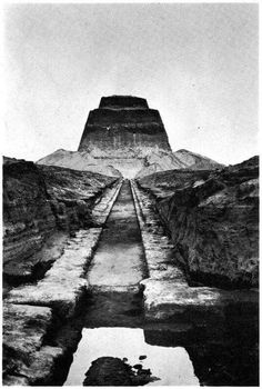 The Pyramid of Meidum in the 1940s.