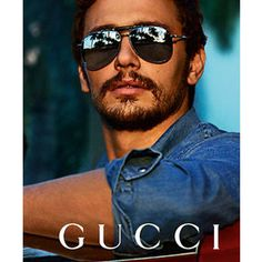 James Franco for Gucci Eyewear.James Franco - or Gucci :D Gucci Eyewear, Men's Eyewear, Fashion Eyewear, Mode Man, Ray Ban Sunglasses Sale, Gucci Sunglasses, Sunglasses Outlet, Sunnies, Ray Ban Outlet
