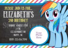 MLP Rainbow Dash Birthday Invitation Digital by SusysPaperCrafts