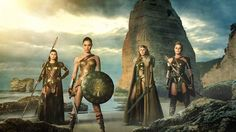 Robin Wright, Connie Nielsen, Gal Gadot, and Lisa Loven Kongsli in Wonder Woman (2017)