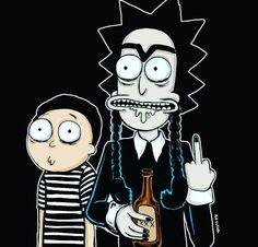 Rick and Morty • The Addams Family
