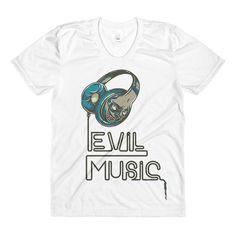 Evil Music Sublimation women's crew neck t-shirt - $1982.00 USD