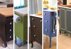 Dressers turned Kitchen Islands!