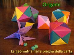 Origami La geometria nelle pieghe della carta. La parola di origine giapponese ORIGAMI, è composta dai due ideogrammi ori piegare e kami carta, indica. Kirigami
