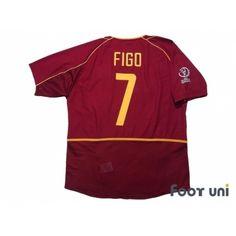 Portugal 2002 Home Shirt  7 Figo 2002 FIFA World Cup Korea Japan Patch Badge 205bff3e5