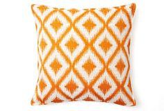 Bazaar 16x16 Pillow, Orange on OneKingsLane.com