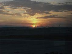 Sunrise at Kuala Lumpur Airport