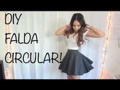 ▶ DIY - FALDA CIRCULAR! - YouTube