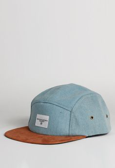Washed Denim Five Panel Hat - Profound Aesthetic