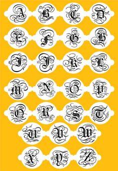 Martha Stewart Cake Alphabet Stencil--13 Inch   Designer Stencils (sold per letter)