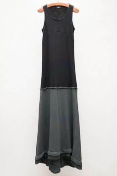 hache black long tank dress