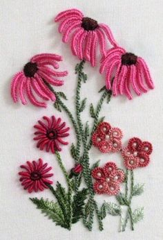 Wonderful Ribbon Embroidery Flowers by Hand Ideas. Enchanting Ribbon Embroidery Flowers by Hand Ideas. Brazilian Embroidery Stitches, Types Of Embroidery, Learn Embroidery, Hand Embroidery Patterns, Embroidery Kits, Machine Embroidery, Embroidery Supplies, Embroidery Needles, Embroidery Books