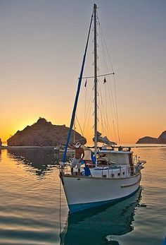 Sailboat Loreto, Baja California, Mexico