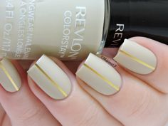 Revlon Bare Bones ; gold striping tape ; matte top coat ; 3/31/15