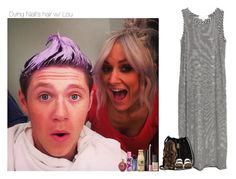 """Dying Niall's hair w/ Lou"" by sexyirishman ❤ liked on Polyvore featuring Cameo, Vince Camuto, NARS Cosmetics, Laura Geller, Manic Panic and Birkenstock"