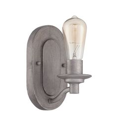 Hadley Aged Galvanized One Light Wall Sconce 1 Light Armed Candle Wall Sconces Wall Light
