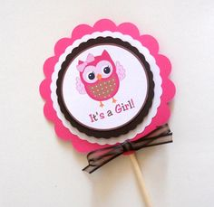 Owl Party Decoration Stick by SprinklesPaperieCo on Etsy
