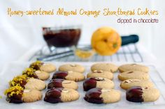Honey-sweetened Almond Orange Shortbread Cookies
