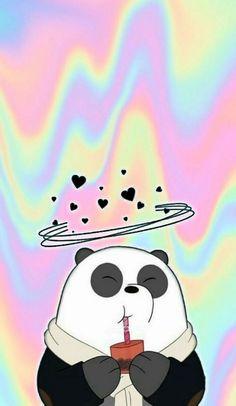 Sinchan Wallpaper, Cute Panda Wallpaper, Cartoon Wallpaper, Wallpaper Backgrounds, We Bare Bears Wallpapers, Panda Wallpapers, Bear Instagram, Ice Bear We Bare Bears, Best Friend Wallpaper
