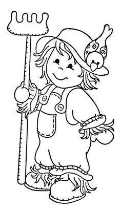 Scarecrow clipart on clip art clip art free and jungle animals 3 dibujos clip art Thanksgiving Coloring Pages, Fall Coloring Pages, Halloween Coloring Pages, Adult Coloring Pages, Coloring Sheets, Coloring Pages For Kids, Coloring Books, Fall Coloring Pictures, Moldes Halloween