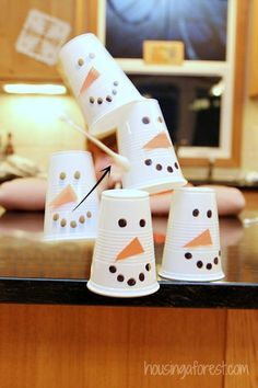 Winter Fun ~ Snowman Blowdart Minute to Win it Game Our family loves Minute to Win it Games! They are great for a simple family night or a large crowd. Plus you probably can use things you already have around … Continue reading →