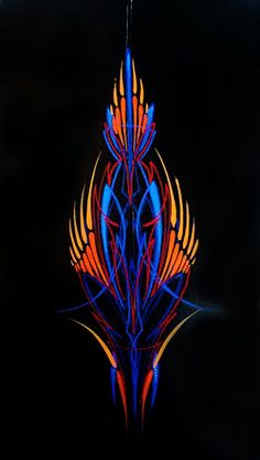 Just A Car Guy: Kong's piece of pinstriping art made to donate to a charity, and it's nice. but it looks very to me. like that blue is layers deeper than the red, orange and yellow Car Pinstriping, Pinstriping Designs, Motorcycle Paint Jobs, Motorcycle Art, Chopper Motorcycle, Pinstripe Art, Old Hot Rods, Custom Paint Jobs, Helmet Design