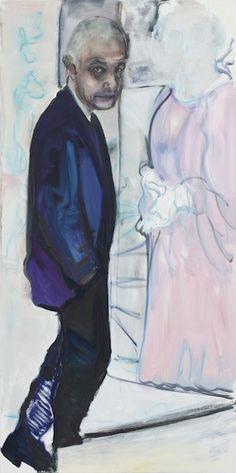 "Dumas Marlene, ""The Artist and his Model"" 200,0 x 100,0 cm oil on canvas 2013"