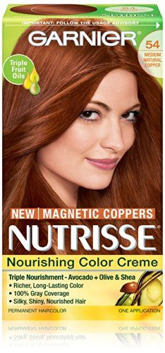 Garnier Nutrisse Nourishing Color Creme, 54 Medium Natural Copper -- Details can be found at http://www.amazon.com/gp/product/B00JIFWW90/?tag=passion4fashion003e-20&pq=280716080340