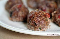 Paleo Thai Basil Beef Balls and more paleo ground beef recipes on MyNaturalFamily.com #paleo #groundbeef #recipes