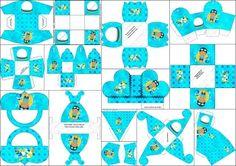 Cajitas para imprimir gratis de Minnie Mouse en fondo rosa. | Ideas y material gratis para fiestas y celebraciones Oh My Fiesta!