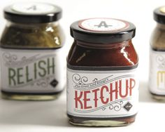 Condiment Packaging Label